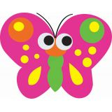 Magnetic Whiteboard Erasers, Butterfly