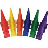 Plastic Cones, 12H, Set of 6, Assorted Colors