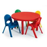 Value Table & 4-Chair Set, Round, Toddler size