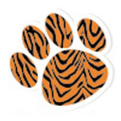 Magnetic Whiteboard Erasers, Tiger Paw