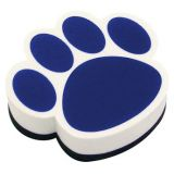 Magnetic Whiteboard Erasers, Blue Paw
