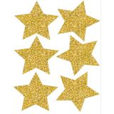 Die-Cut Magnets, 4 Silver Sparkle Stars