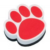 Magnetic Whiteboard Erasers, Red Paw