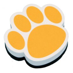 Magnetic Whiteboard Erasers, Gold Paw