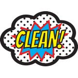Magnetic Whiteboard Erasers, Superhero Clean!