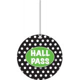 B/W Dots Hall Pass