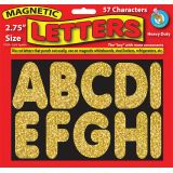 2-3/4 Magnetic Letters, Gold Sparkle