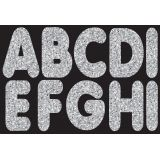 2-3/4 Magnetic Letters, Silver Sparkle