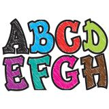 2-3/4 Designer Magnetic Letters, Modern Hip Asst Chalk Colors