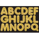 1-3/4 Magnetic Letters, Gold Sparkle