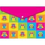 Decorated Poly Folder, Color Owls