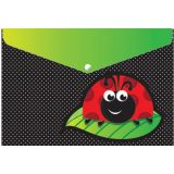 Decorated Poly Folder, Ladybug