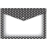 Decorated Poly Folder, B/W Dots