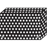Decorated Poly Index Card Boxes for 3 x 5 Cards, B/W Dots