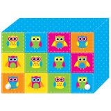 Decorated Poly Index Card Boxes for 3 x 5 Cards, Color Owls