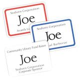 Avery® Flexible Adhesive Name Badge Labels, White Rectangle w/Red Border
