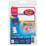 Avery® Flexible Adhesive Name Badge Labels, Mini Rectangle in Assorted Colors