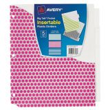 Avery® Big Tab™ Pocket Insertable Plastic Dividers, 5-Tab Set