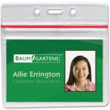 Badge Holder with Seal, Horizontal, 50 per Pack