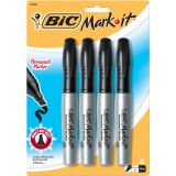 BIC® Mark•It™ Permanent Markers, 4-count Assorted