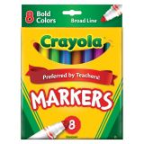 Crayola® Watercolor Markers, Broad-Line, 8 Bold Colors