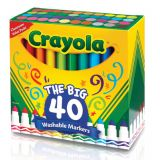 Crayola® Washable Broad Line Markers, 40 colors
