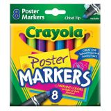 Crayola® Poster Markers, 8 colors