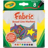 Crayola® Fabric Markers, 8 count, Broadline