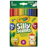 Crayola® Silly Scents™ Washable Markers, Chisel Tip, 6 colors/scents