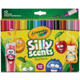 Crayola® Silly Scents™ Washable Markers, Chisel Tip, 12 colors/scents