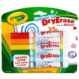 Crayola® Dry-Erase Washable Markers, 6-color set