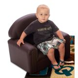 Just Like Home School-Age Chair, Enviro-Child Upholstery, Chocolate