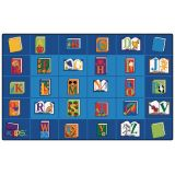 Reading by the Book Seating Rug, 5'10 x 8'4 Rectangle