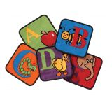 Reading by the Book Carpet Squares, Set of 26