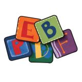 Alphabet Blocks Carpet Squares, Set of 26