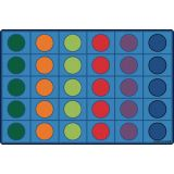 Seating Circles Rug, 6' x 9' Rectangle