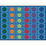 Seating Circles Rug, 8' x 12' Rectangle