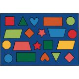 Kid$ Value Rugs®, Color Shapes, 4' x 6'