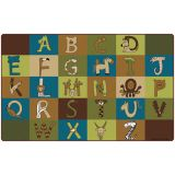 A to Z Animals! Rug, 7'6 x 12' Rectangle, Nature's Colors