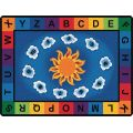 Sunny Day Learn and Play Carpet, 6'9 x 9'5 Oval, Primary Colors