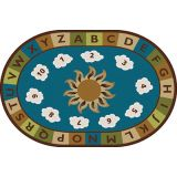 Sunny Day Learn and Play Carpet, 4' x 6' Oval, Nature's Colors