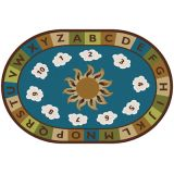 Sunny Day Learn and Play Carpet, 6' x 9' Oval, Nature's Colors