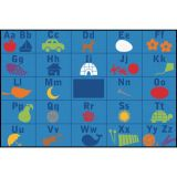 KID$ Value Line PLUS™ Rug, Alphabet Seating Rug, 8' x 12'