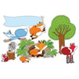Playful Foxes Bulletin Board Set