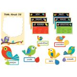 Boho Birds Higher-Order Thinking Skills Bulletin Board Set