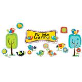 Boho Birds Fly Into Learning Bulletin Board