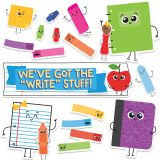 School Tools We've Got the Write Stuff! Mini Bulletin Board Set