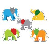 Parade of Elephants Colorful Cut-Outs® Assorted Designs