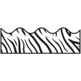 Zebra Print Scalloped Border