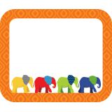 Parade of Elephants Name Tags